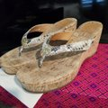 Tory Burch Snakeskin Wedges Image 3