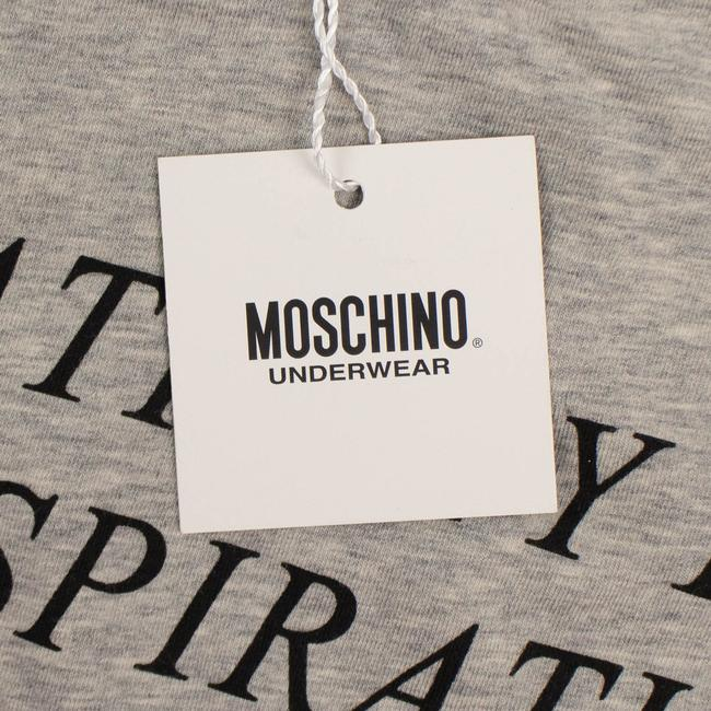 Moschino Summer Cotton Logo Graphics Elastane T Shirt Gray Image 3