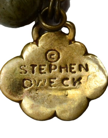 Stephen Dweck Stephen Dweck Smoky Quartz Agate and Jade Necklace w/ Carved Pendant Image 3