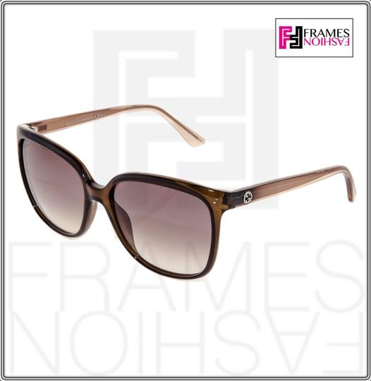 Gucci GG3696S Square Helm Shiny Brown Gold Ombre Gradient 3696 G7OJS Image 1