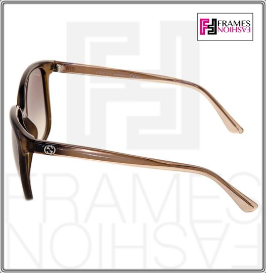 Gucci GG3696S Square Helm Shiny Brown Gold Ombre Gradient 3696 G7OJS Image 2