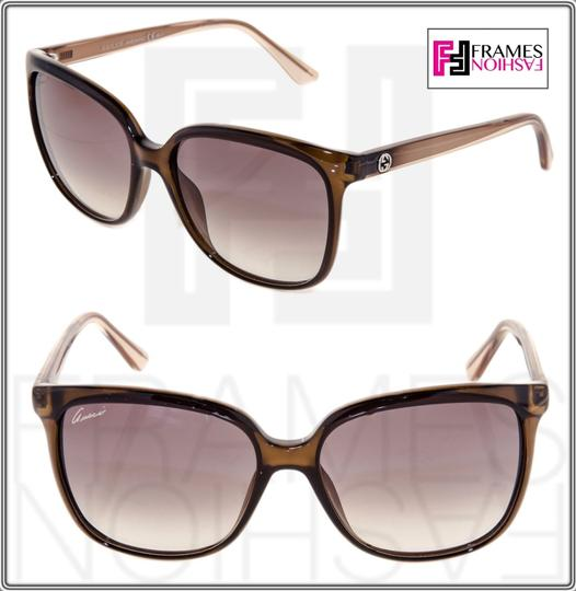 Gucci GG3696S Square Helm Shiny Brown Gold Ombre Gradient 3696 G7OJS Image 3