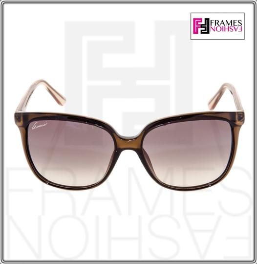 Gucci GG3696S Square Helm Shiny Brown Gold Ombre Gradient 3696 G7OJS Image 4