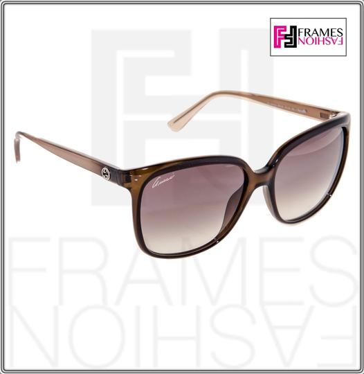 Gucci GG3696S Square Helm Shiny Brown Gold Ombre Gradient 3696 G7OJS Image 5