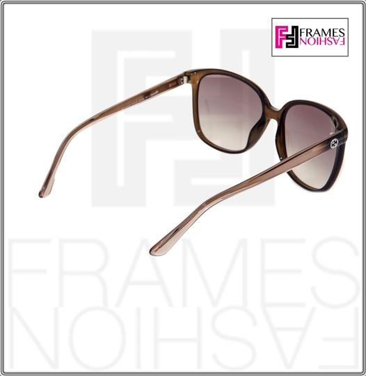 Gucci GG3696S Square Helm Shiny Brown Gold Ombre Gradient 3696 G7OJS Image 6