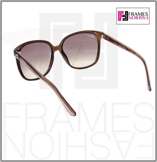 Gucci GG3696S Square Helm Shiny Brown Gold Ombre Gradient 3696 G7OJS Image 7