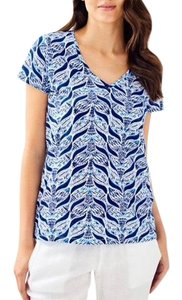 Lilly Pulitzer Mermaid T Shirt Blue