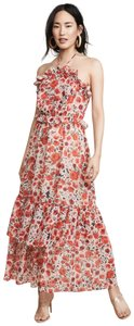 MISA Los Angeles Feminine Fall Maxi Chiffon Dress
