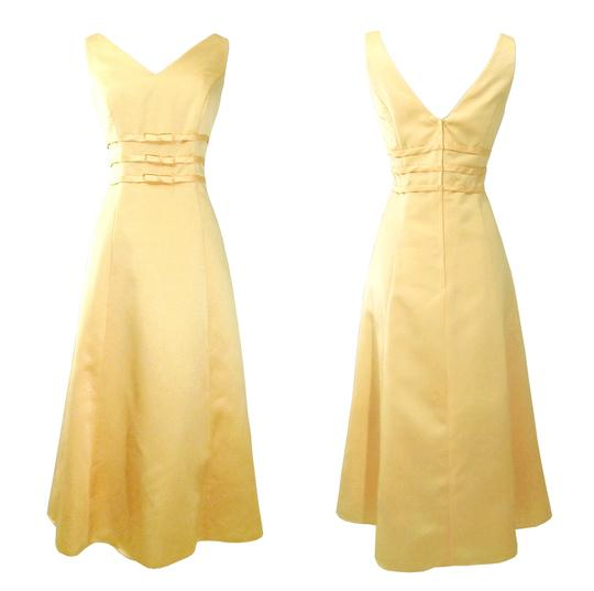 Alexia Designs Yellow Satin Style 500 Formal Bridesmaid/Mob Dress Size 10 (M) Image 1