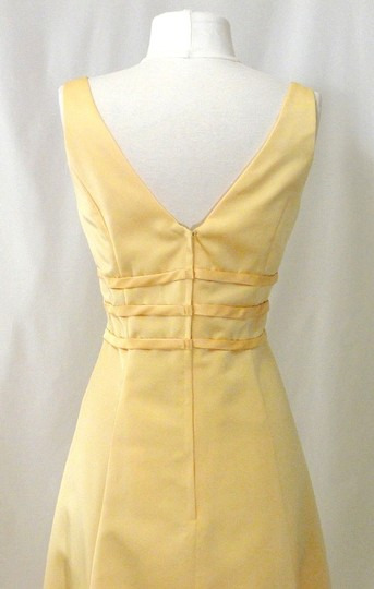 Alexia Designs Yellow Satin Style 500 Formal Bridesmaid/Mob Dress Size 10 (M) Image 10