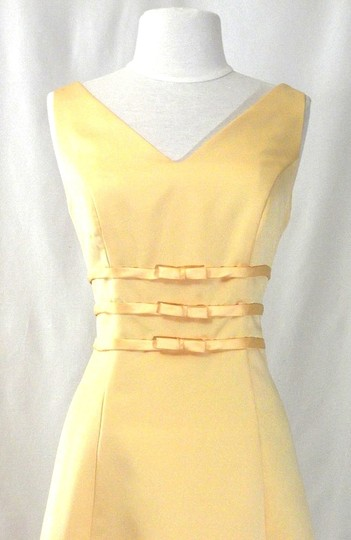 Alexia Designs Yellow Satin Style 500 Formal Bridesmaid/Mob Dress Size 10 (M) Image 3