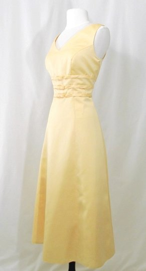 Alexia Designs Yellow Satin Style 500 Formal Bridesmaid/Mob Dress Size 10 (M) Image 5