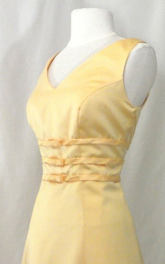 Alexia Designs Yellow Satin Style 500 Formal Bridesmaid/Mob Dress Size 10 (M) Image 6