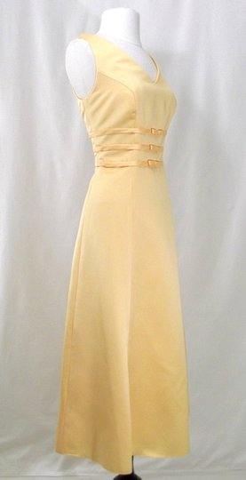 Alexia Designs Yellow Satin Style 500 Formal Bridesmaid/Mob Dress Size 10 (M) Image 7