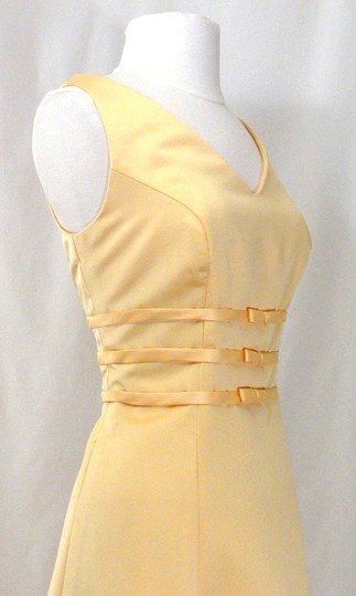 Alexia Designs Yellow Satin Style 500 Formal Bridesmaid/Mob Dress Size 10 (M) Image 8