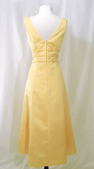 Alexia Designs Yellow Satin Style 500 Formal Bridesmaid/Mob Dress Size 10 (M) Image 9
