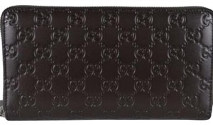 Gucci Gucci Signature Mens Cocoa Brown GG Guccissima Leather Wallet 447906