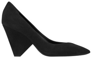 Saint Laurent Women's Suede Niki 85 Black Pumps