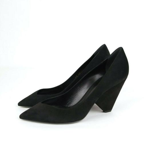 Saint Laurent Women's Suede Niki 85 Black Pumps Image 4