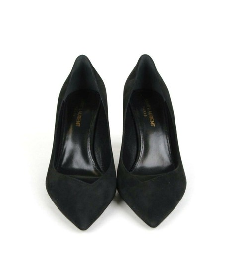 Saint Laurent Women's Suede Niki 85 Black Pumps Image 5