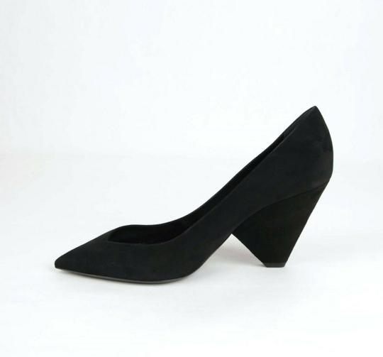 Saint Laurent Women's Suede Niki 85 Black Pumps Image 9