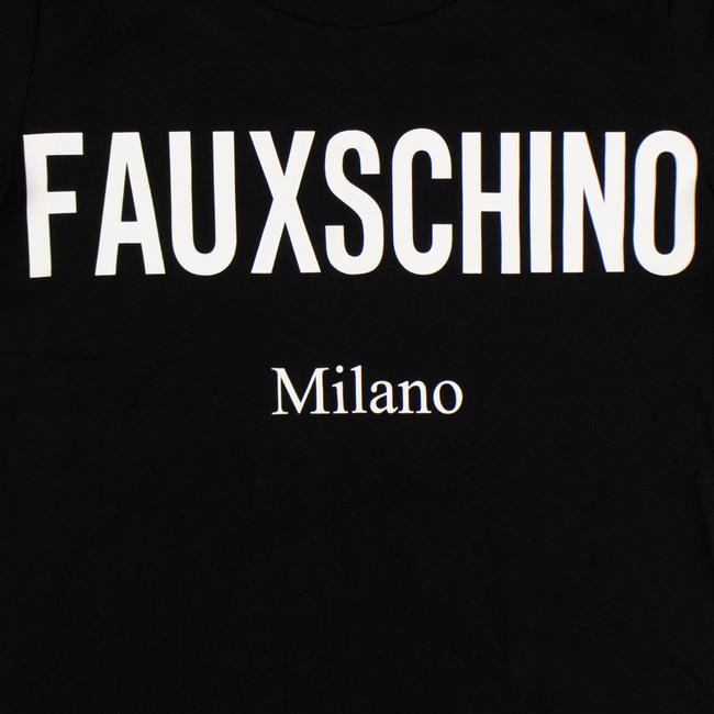 Moschino Summer Cotton Logo Graphics Sleeve T Shirt Black Image 2