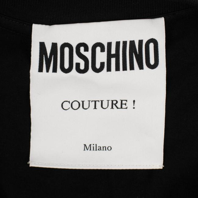 Moschino Summer Cotton Logo Graphics Sleeve T Shirt Black Image 3