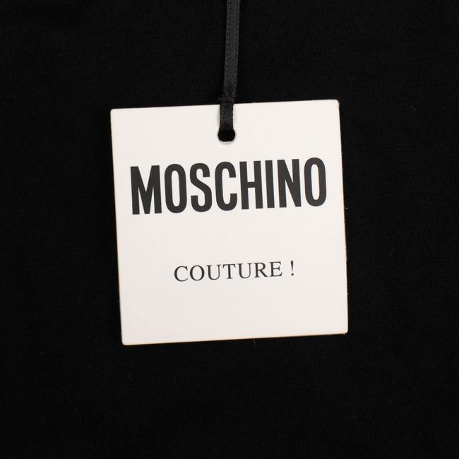 Moschino Summer Cotton Logo Graphics Sleeve T Shirt Black Image 4