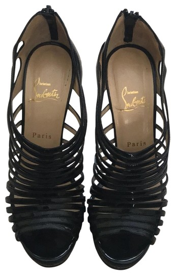 Preload https://img-static.tradesy.com/item/25965951/christian-louboutin-black-120-discqueen-patent-calf-395-wedges-size-us-95-regular-m-b-0-3-540-540.jpg