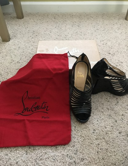 Christian Louboutin Black Wedges Image 6