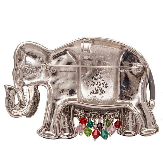 Ritzy Couture by Esme Hecht Multi Color Royal Elephant Charm Pin/Pendant (Silvertone) Image 1