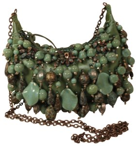 Mary Frances Beaded Fringed Dangle Turquoise Onm001 Baguette