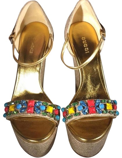 Gucci gold Wedges Image 0