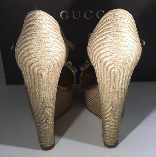 Gucci gold Wedges Image 5