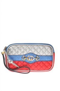 Gucci Gucci Womens Dionysus Quilted Silver Blue and Red Leather Gold 542202