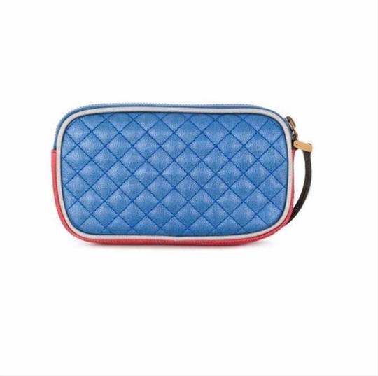 Gucci Gucci Womens Dionysus Quilted Silver Blue and Red Leather Gold 542202 Image 1