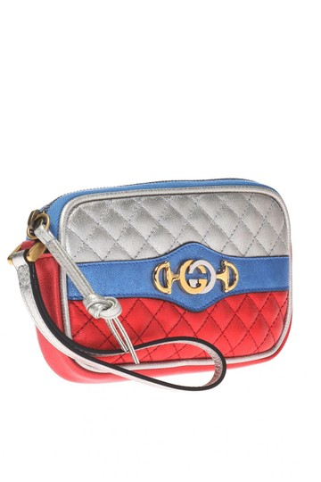 Gucci Gucci Womens Dionysus Quilted Silver Blue and Red Leather Gold 542202 Image 2