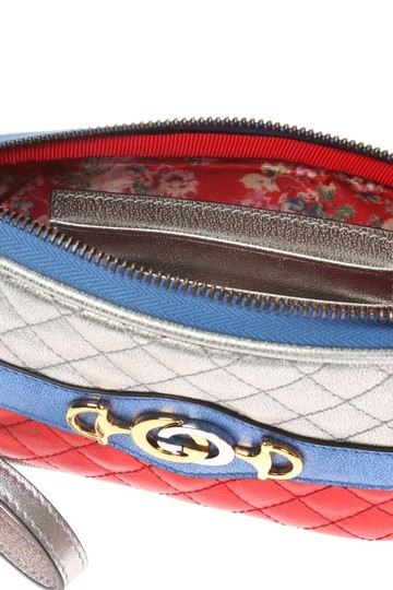 Gucci Gucci Womens Dionysus Quilted Silver Blue and Red Leather Gold 542202 Image 3