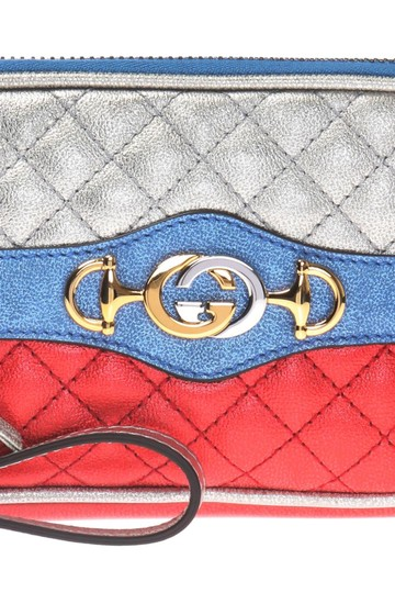 Gucci Gucci Womens Dionysus Quilted Silver Blue and Red Leather Gold 542202 Image 4