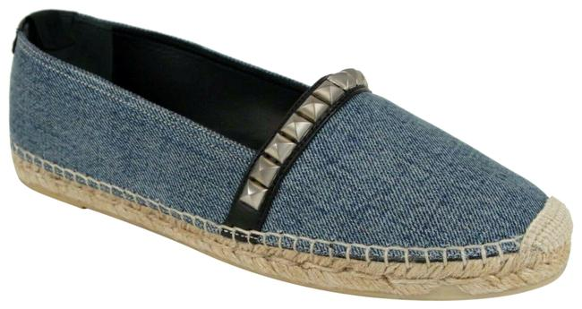 Item - Light Blue Women's Denim Studded Espadrille 39/Us 416447 4970 Flats Size US 9 Regular (M, B)