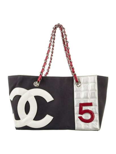 Preload https://img-static.tradesy.com/item/25965993/chanel-bag-no-5-shopper-cc-logo-mania-quilted-large-silver-navy-red-canvas-tote-0-0-540-540.jpg