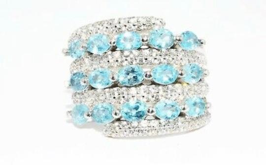 INDEPENDENT JEWELER BLUE ZIRCON AND WHITE TOPAZ RING Image 10