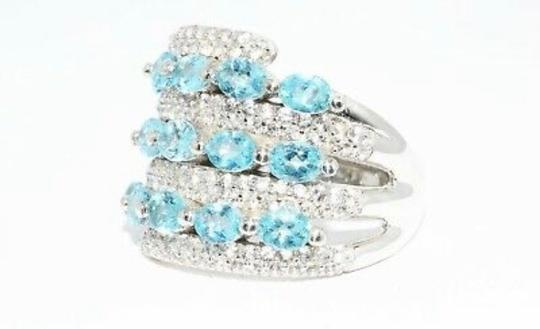 INDEPENDENT JEWELER BLUE ZIRCON AND WHITE TOPAZ RING Image 11