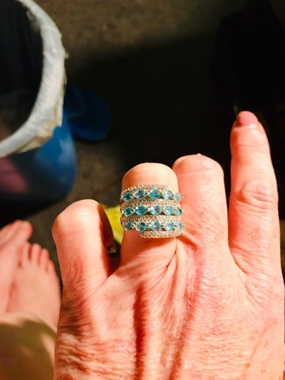 INDEPENDENT JEWELER BLUE ZIRCON AND WHITE TOPAZ RING Image 2