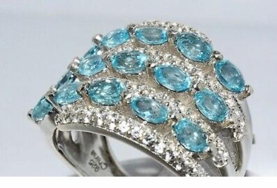 INDEPENDENT JEWELER BLUE ZIRCON AND WHITE TOPAZ RING Image 5