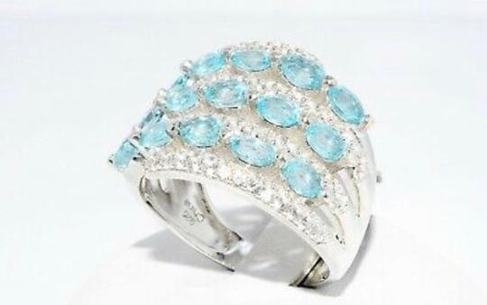 INDEPENDENT JEWELER BLUE ZIRCON AND WHITE TOPAZ RING Image 6