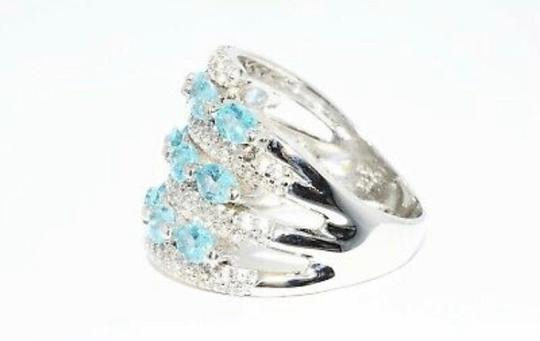 INDEPENDENT JEWELER BLUE ZIRCON AND WHITE TOPAZ RING Image 8