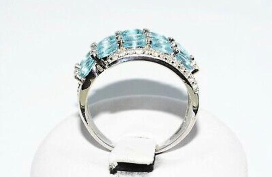 INDEPENDENT JEWELER BLUE ZIRCON AND WHITE TOPAZ RING Image 9