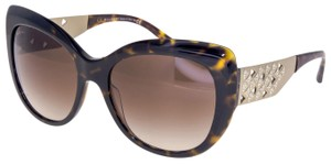 BVLGARI DIVAS DREAM BV8198B Havana Gold Crystal Sunglasses 8198 Women