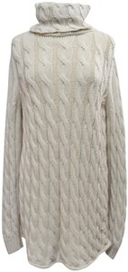 Emerson Fry short dress Beige Cable Knit Turtle Neck Sweater Wool Knit on Tradesy